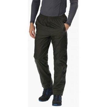 Clothing Men Trousers Regatta PACK-IT Waterproof Overtrousers Green