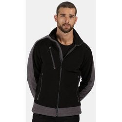 Clothing Fleeces Professional Contrast Heavyweight Full Zip Fleece Black Black