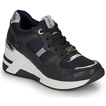 Shoes Women Low top trainers Tom Tailor  Marine / Black