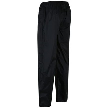 Clothing Men Trousers Regatta PACK-IT Waterproof Overtrousers Navy Black Black
