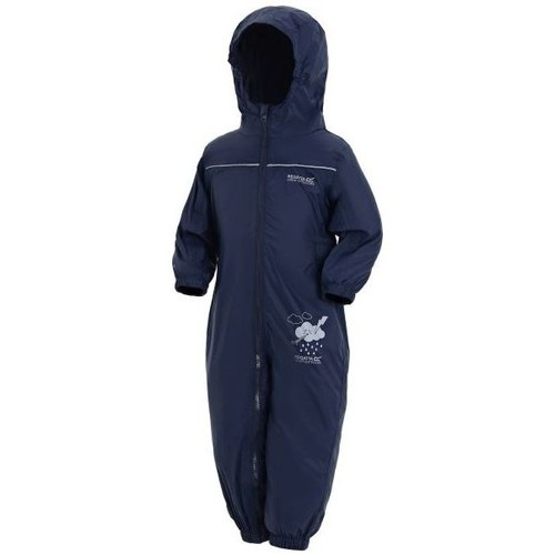 Clothing Children Coats Regatta PUDDLE IV Waterproof PuddleSuit Blue
