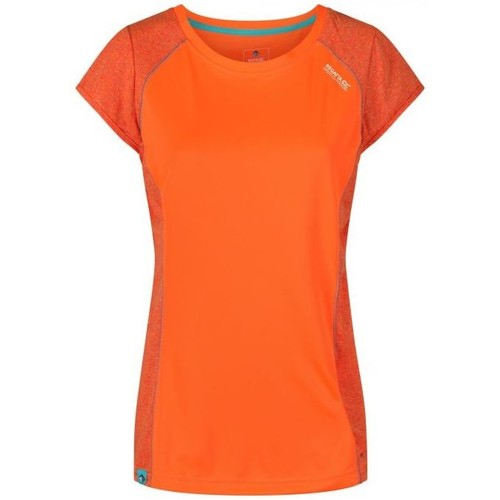 Clothing Women T-shirts & Polo shirts Regatta Hyper Reflective II T-Shirt Shock Orange Orange Orange