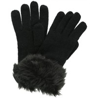 Clothes accessories Women Gloves Regatta Adults Luz Cotton Jersey Knit Gloves Black