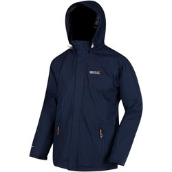 Clothing Men Macs Regatta Matt Lightweight Waterproof Shell Hooded Walking Jacket Blue Blue