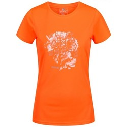 Clothing Women T-shirts & Polo shirts Regatta Fingal IV Quick Drying T-Shirt Orange Orange