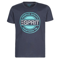 Clothing Men short-sleeved t-shirts Esprit ICON T-SHIRT Marine