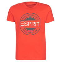 Clothing Men short-sleeved t-shirts Esprit ICON T-SHIRT Red