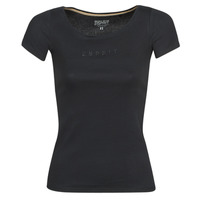 Clothing Women short-sleeved t-shirts Esprit T-SHIRTS LOGO Black