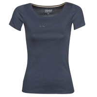 Clothing Women short-sleeved t-shirts Esprit T-SHIRTS LOGO Marine