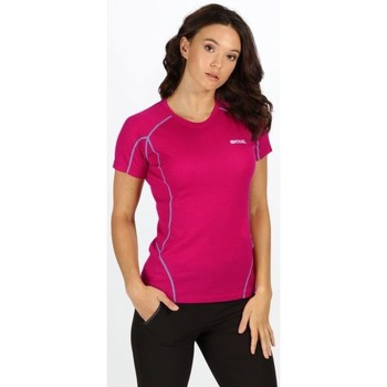 Clothing Women T-shirts & Polo shirts Regatta Tornell Super Soft T-Shirt Petrol Pink Pink
