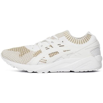 Shoes Men Low top trainers Asics Gelkayano Trainer Knit White,Beige
