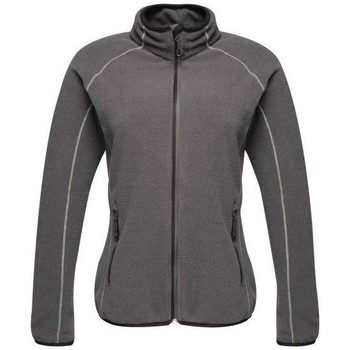 Clothing Women Fleeces Professional Dreamste Full Zip Mini Honeycomb Fleece Grey Grey