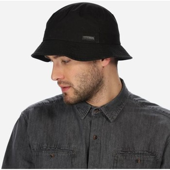 Clothes accessories Men Hats Regatta SAMPSON Wax Hat Dark Khaki  Black Black