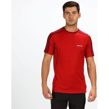 Clothing Men T-shirts & Polo shirts Regatta Tornell Super Soft Merino Wool T-Shirt Seal Grey Red Red
