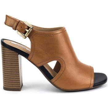 Shoes Women Sandals Geox Audalies High Brown