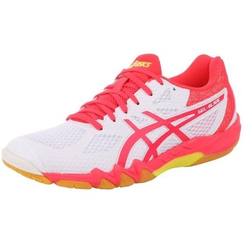 Shoes Women Derby Shoes & Brogues Asics Gelblade 7 100 Womens White, Pink