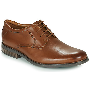 Shoes Men Derby Shoes Clarks BECKEN LACE Brown
