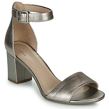 Shoes Women Heels Clarks DEVA MAE Silver