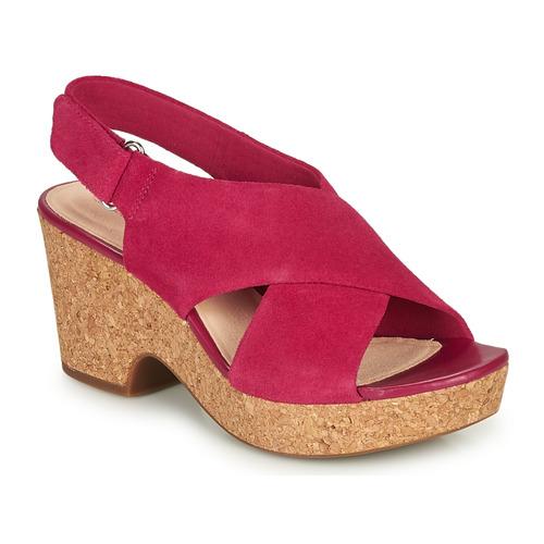 Shoes Women Sandals Clarks MARITSA LARA Pink