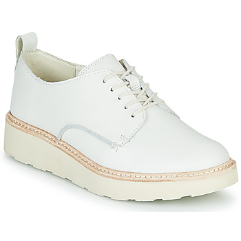 Shoes Women Derby Shoes Clarks TRACE WALK White