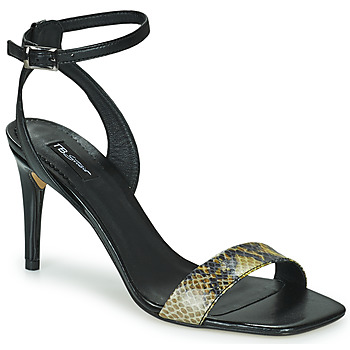 Shoes Women Sandals Tosca Blu LA-DIGUE Black / Python / Yellow