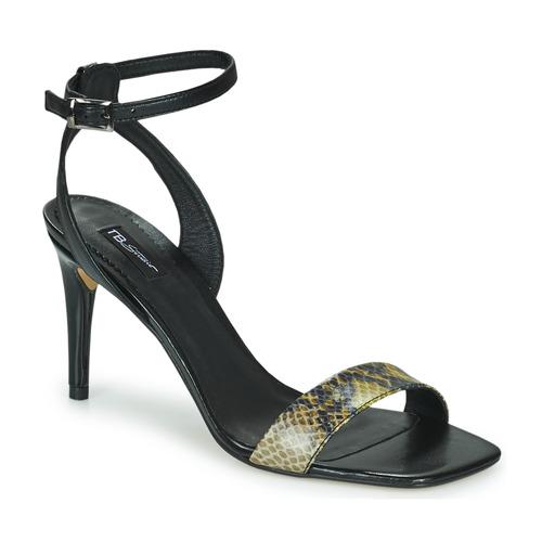 Shoes Women Sandals Tosca Blu LA-DIGUE Black / Python / Yellow