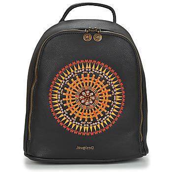 Bags Women Rucksacks Desigual AFRICAN MANDALA NAZCA MINI Black
