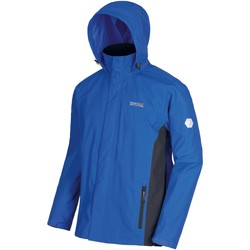 Clothing Men Jackets Regatta Matt Lightweight Waterproof Jacket with Concealed Hood Blue Blue
