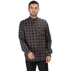 Clothing Men long-sleeved shirts Regatta Lazare Long Sleeved Checked Shirt Grey Grey