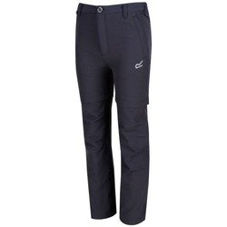 Clothing Boy Trousers Regatta HIKEFELL Zip-Off Trousers Grey