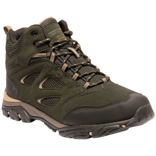 Shoes Men Walking shoes Regatta HOLCOMBE IEP Mid Walking Boots Navy Granite Green Green