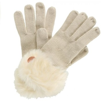 Clothes accessories Women Gloves Regatta Adults Luz Cotton Jersey Knit Gloves Light Vanilla White White