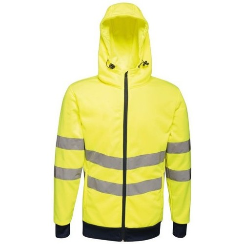 Clothing Men Jackets Professional HIVIS PRO EN20471 Full-Zip Hoodie Yellow Navy Yellow Yellow
