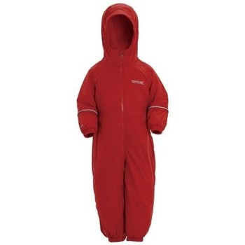 Clothing Children Jumpsuits / Dungarees Regatta Splosh III Breathable Waterproof Puddle Suit Red Red