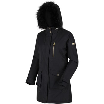 Clothing Women Parkas Regatta Women's Serleena Fur Trimmed Waterproof Insulated Jacket Black