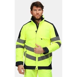 Clothing Men coats Professional Hi-Vis Waterproof Insulated Reflective Work Jacket Yellow Yellow