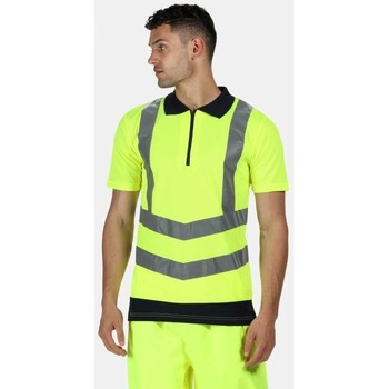Clothing Men T-shirts & Polo shirts Professional HIVISPRO Wicking Polo TShirt Yellow Navy Yellow Yellow