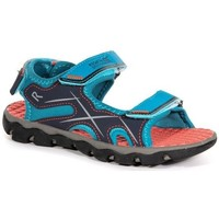 Shoes Boy Sandals Regatta KOTA DRIFT JUNIOR Sandals Nautical Blue Electric Lime  Blue Blue
