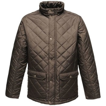 Clothing Men Coats Professional TYLER Quilted Jacket Dark Khaki Black Black