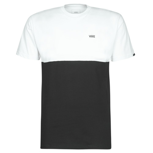 Clothing Men short-sleeved t-shirts Vans COLORBLOCK TEE Black / White