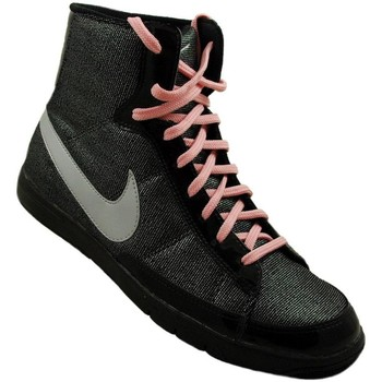Shoes Children Low top trainers Nike Blazer Mid Metro GS Graphite,Black,Grey