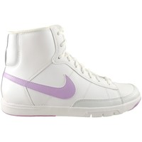 Shoes Children Low top trainers Nike Blazer Mid Metro GS White,Violet
