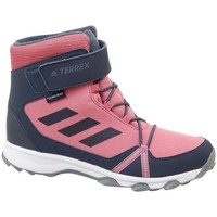 Shoes Children Snow boots adidas Originals Terrex Snow CF CP C Graphite,Pink