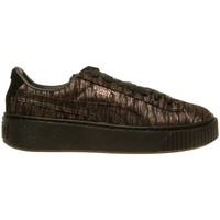 Shoes Women Low top trainers Puma Basket Platform VR Wmns Golden, Brown