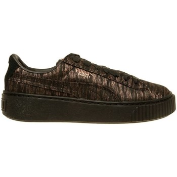 Shoes Women Low top trainers Puma Basket Platform VR Wmns Golden,Brown