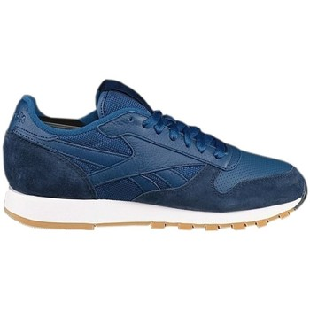 Shoes Men Low top trainers Reebok Sport CL Leather Spp White,Navy blue