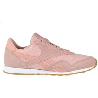 Shoes Women Low top trainers Reebok Sport CL Nylon Slim Txt L Pink