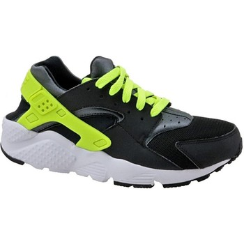 Shoes Children Low top trainers Nike Huarache Run GS Black, Celadon