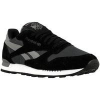 Shoes Men Low top trainers Reebok Sport CL Leather Clip Ele Gravelblackmedium Black,Grey
