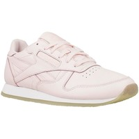 Shoes Women Low top trainers Reebok Sport CL Lthr Crepe Neutr Porcelain Pinkwhite Pink